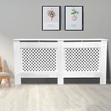 Traditional Radiator Cover MDF Cabinet White