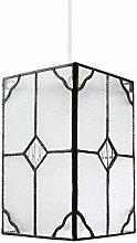 Traditional Rectangular Clear Glass Tiffany Easy