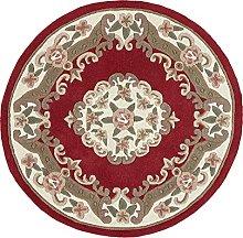 Traditional Round Original Classic Aubusson Floral