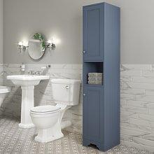 Traditional Tall Boy Bathroom Cabinet - Doors &