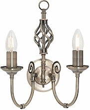 Traditional Twin 2 Way Double Wall Light with a