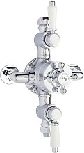 Traditional Victorian Chrome Thermostatic Triple