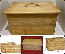 Traditional Wooden Bread Bin Kitchen Storage for