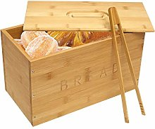 Traditional Wooden Bread Bin with Bread Clip