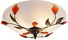Traditionally Designed Bronze Semi Flush Ceiling