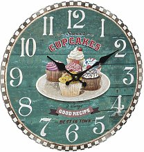 Traft Vintage 34cm Wall Clock Brambly Cottage