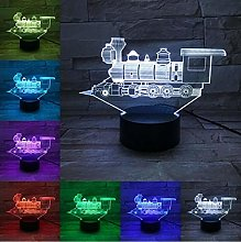Train 3D USB Lamp Touch Remote Boys Christmas New