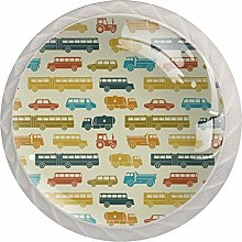 Trains Trucks Cars Pattern Drawer Knobs Pulls