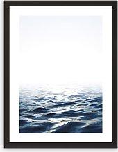 Tranquility - Framed Print & Mount, 66 x 51cm, Blue