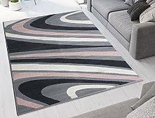 Transitional Swirl Geometric Rug Soft Affordable