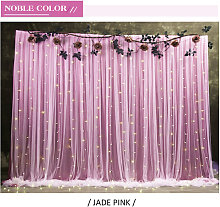 Translucent Background Cloth Wedding Party Curtain
