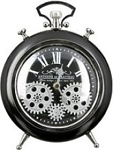 Transmission Glass Wall Clock With Black And