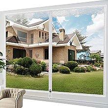 Transparent Insulation Curtain With Zipper Window