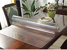 Transparent Matte Tablecloth, PVC Waterproof