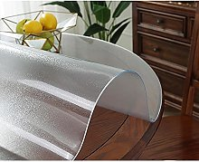 Transparent Matte Tablecloth, Waterproof PVC Table