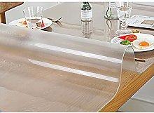 Transparent Matte Tablecloth, wipeable Transparent