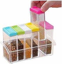 Transparent Plastic Box 6 Install Spices, Spice