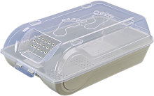 Transparent Shoe Box with Lid Stackable Breathable