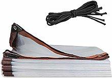 Transparent Tarp Waterproof with Grommet 7x10ft,