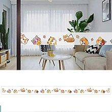 Transparent Wallpaper Border Cat Self Adhesive