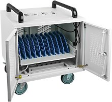 Transport rack cart for 10 laptop, notebook and