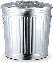 Trash Bin Trash Can, Outdoor Metal Dustbin Garden