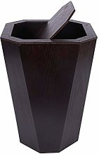 Trash Can Wood Wastebasket, Trash Can for Bedroom