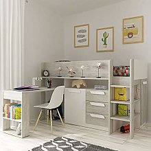 Trasman Girona Mid Sleeper Cabin Bed with Desk and