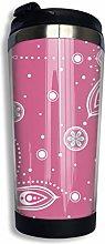 Travel Mug Warmer Tumbler Pink Mandala Accents