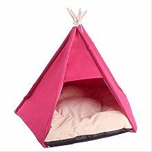 Travel Outdoor Indoor Pet House Tent Wood Kennel