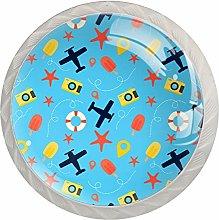 Travel Popsicles Plane Starfish Camera Blue Drawer