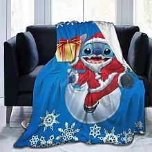 Travel Throw Blankets,Anime Stitch Warm Bed