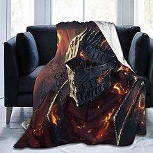 Travel Throw Blankets,Dark-Soul Light Weight Plush