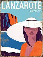 Travel tin sign, Lanzarote, Canary Islands, Spain,