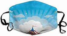 Travelling Circus Tent With Clouds Butterflies And