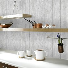 Travertine 10m L x 64cm W Wood Roll Wallpaper East
