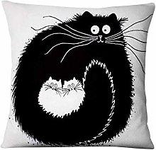 Travesseiro De Gatinho Branco E Preto, Almofada
