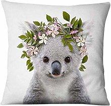 Travesseiro Decorativo Com Estampa De Flores,