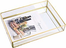 Tray Mirror Gold Mirror Tray Perfume Plate Makeup
