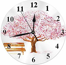 Tree Clock Love Cherry Trees Blossom Flower with