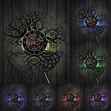 Tree of Life Wall Clock Sacred Tree Vinyl Record