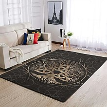 Tree of Life Yggdrasil Area Rug Patterned Puffy