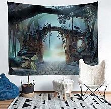 Tree Print Tapestry Natural Scenery Wall Hanging