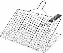 TreeLeaff Fish Grilling Basket, Folding Portable