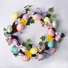 Treer Easter Decorations Craft Hanging Wreath,