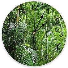 Trees Green Plants 3D Wall Clock Modern Design