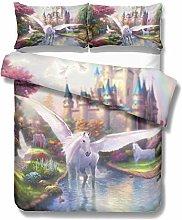 Treeshu Unicorn Bedding Set, Pink Designer Duvet