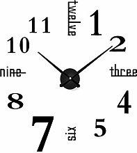 TREESTAR 3D Extra Large Silent Wall Clock Modern