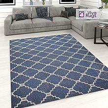 Trellis Rug 100% Cotton Washable Carpet for Living