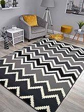 Trend Black Zig Zag Design Rug. Available in 8